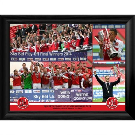 A great framed print celebrating the historic victory. Framed in a contemporary black and supplied ready to hand. Overall size: 466x365mm Code: FT019