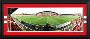 Framed Highbury Empty Panoramic from Half Way
