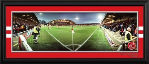 Framed Night Corner Match Panoramic v Blackpool in FA Cup